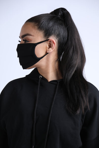 "Cloth logo ""A"" Face Mask Black (2 in 1 pack)"