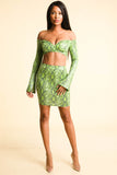 Going Crazy Snake print Neon Yellow Set - Alvy Luxe