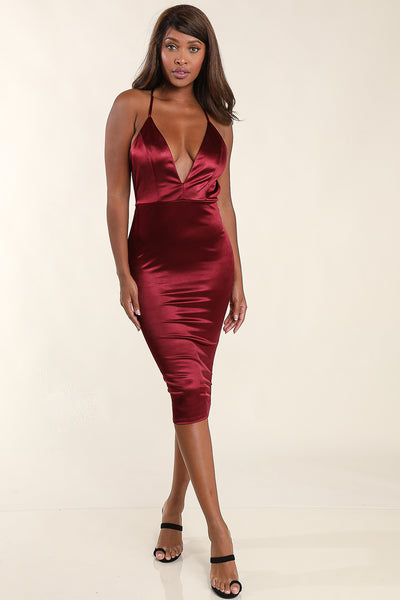 YaYa Burgundy Dress