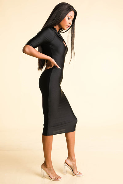 So far Gone Black Nylon Dress