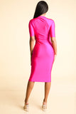 So far Gone Neon Pink Nylon Dress - Alvy Luxe