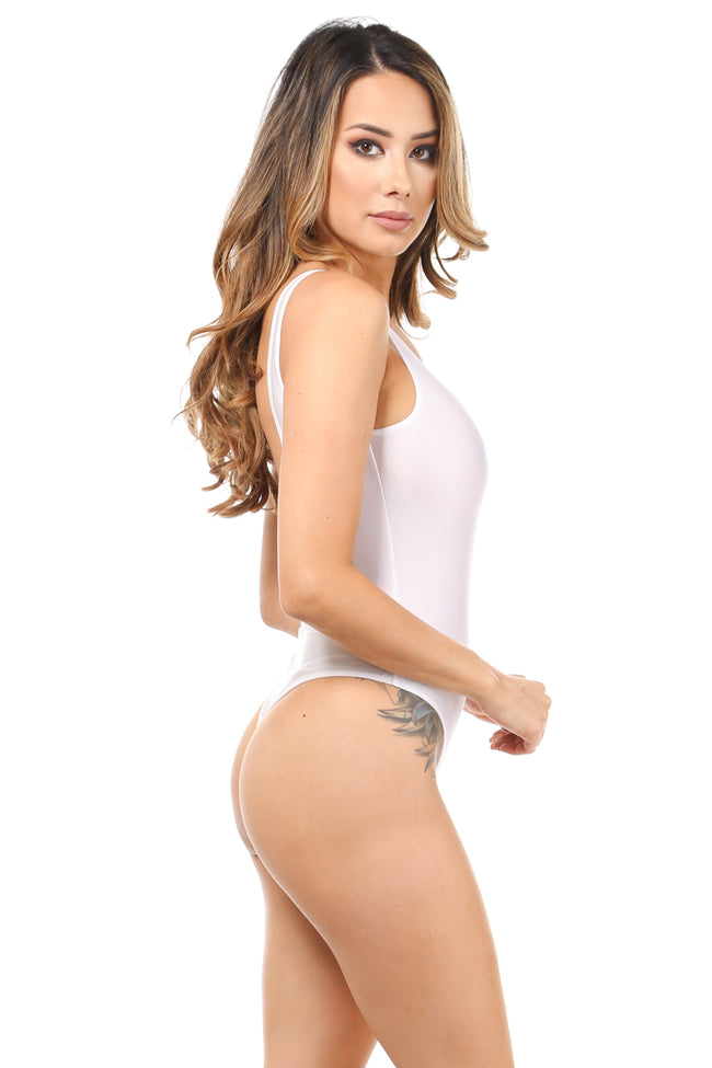 All in Fun Nylon White Bodysuit