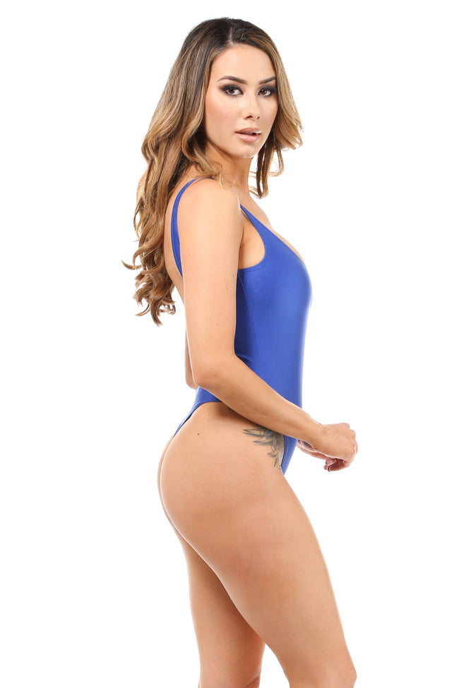 All in Fun Nylon Blue Bodysuit