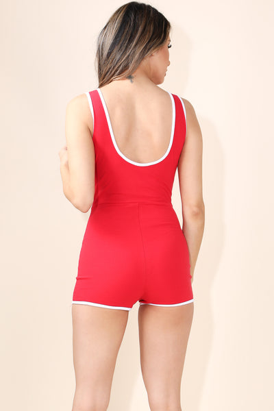 This Cute Red romper - Alvy Luxe