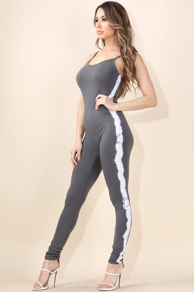 Cool Tie Dye  Grey Catsuit