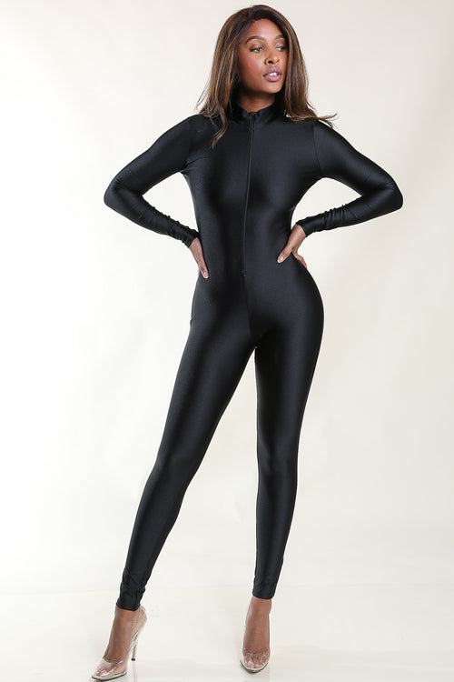 Who Gone Stop me Black Jumpsuit