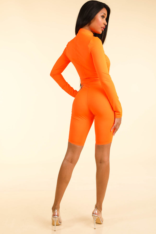 Flavor Of the Month Orange Romper