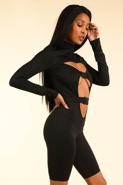 Flavor Of the Month Black Romper - Alvy Luxe