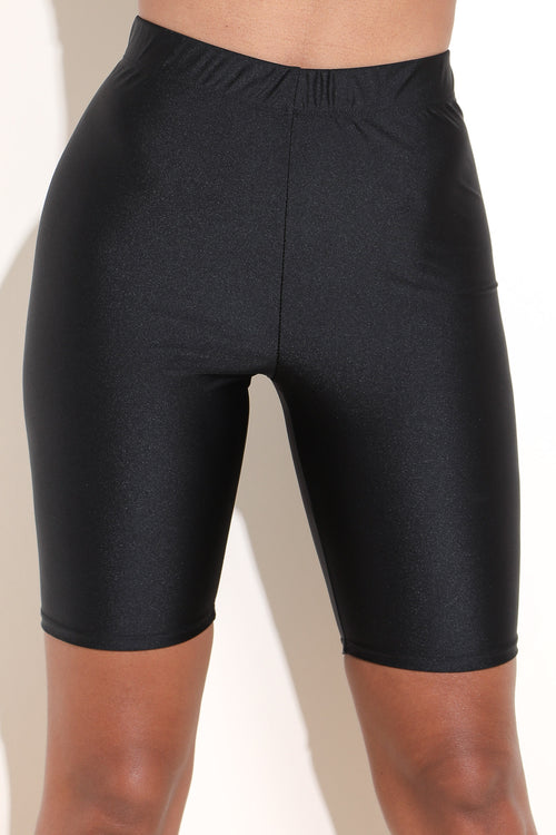 Nylon Spandex Black Shorts