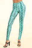 Snake Print Blue Leggings - Alvy Luxe