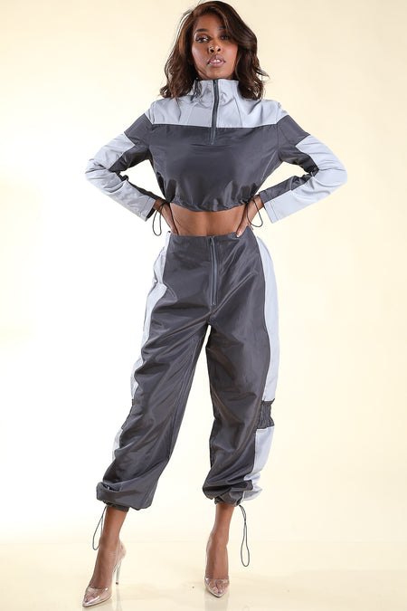 Who Gone Stop me Silver Jumpsuit