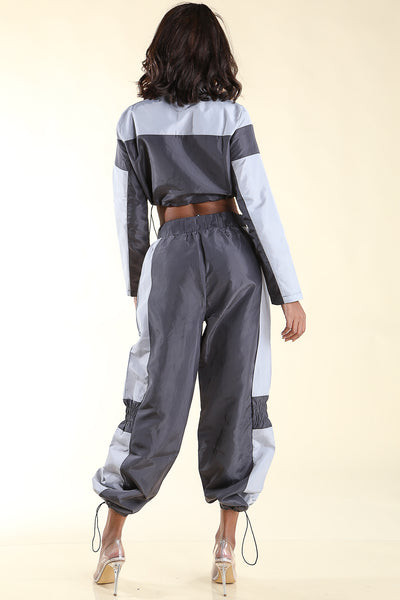 No Steez Grey Windbreaker set - Alvy Luxe