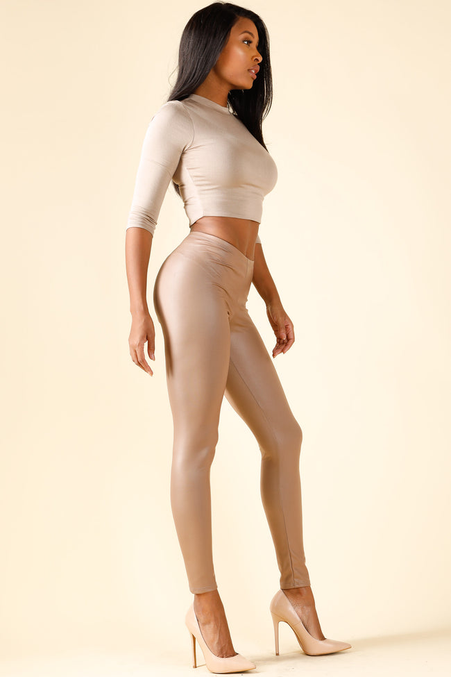 Icon Taupe Leggings