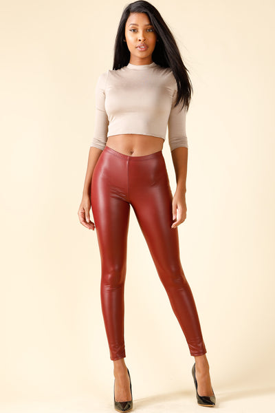 Icon Burgundy Leggings