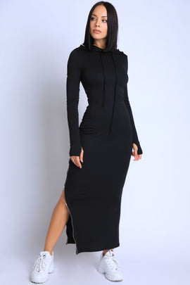 Terry Hooded Maxi Dress