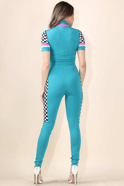 Speed Racer Teal Jumpsuit
