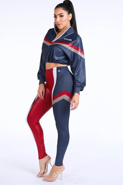 lizzy Navy Windbreaker Set - Alvy Luxe