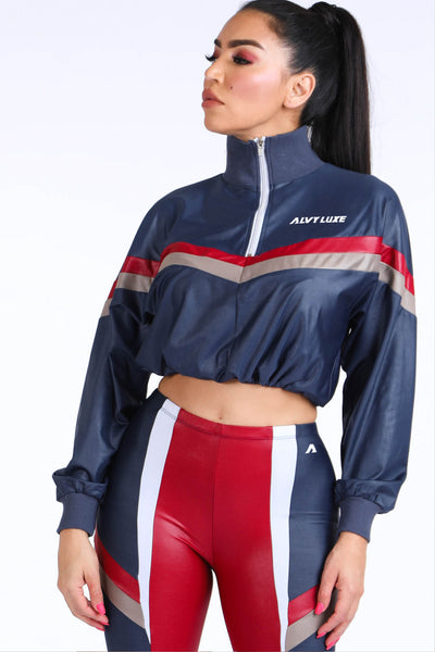 lizzy Navy Windbreaker Set