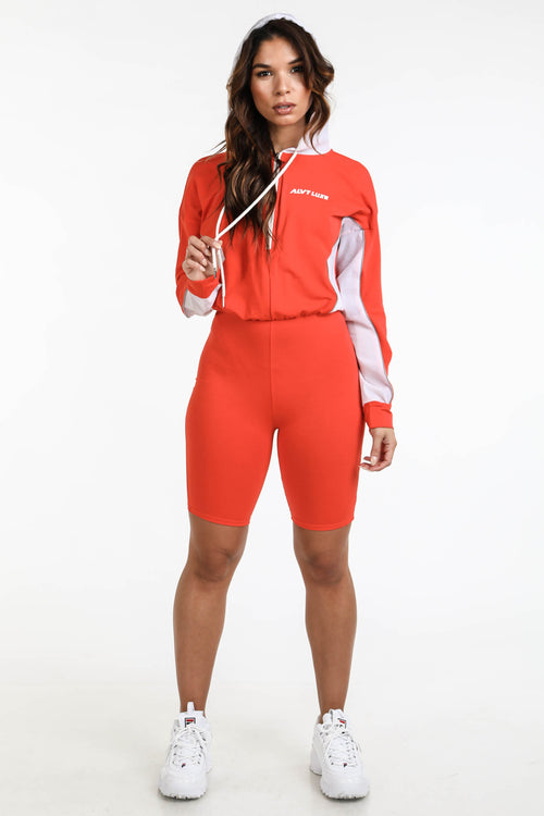 Max orange hooded romper - Alvy Luxe