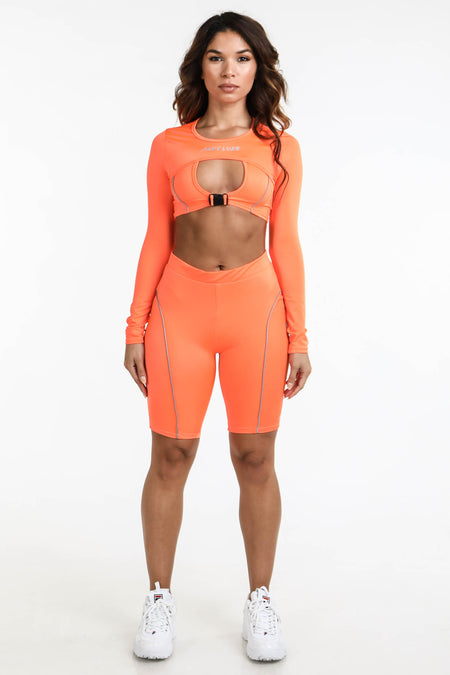 Logo Tank Romper Orange
