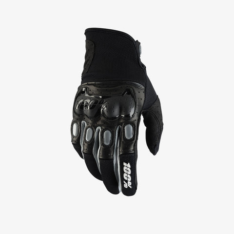 100% Men's Destricted Glove Black/Grey