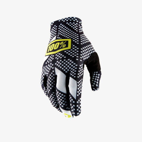 100% Men's Celium 2 Glove Code Black