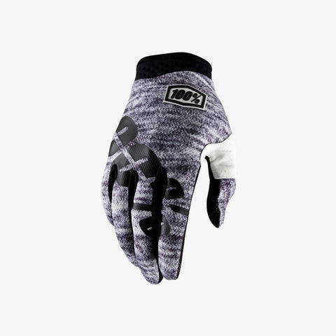 100% Men's iTrack Glove Heather Grey