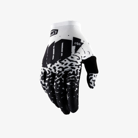 100% Men's Celium 2 Gloves Metal White
