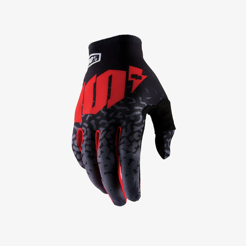 100% Celium 2 glove red black