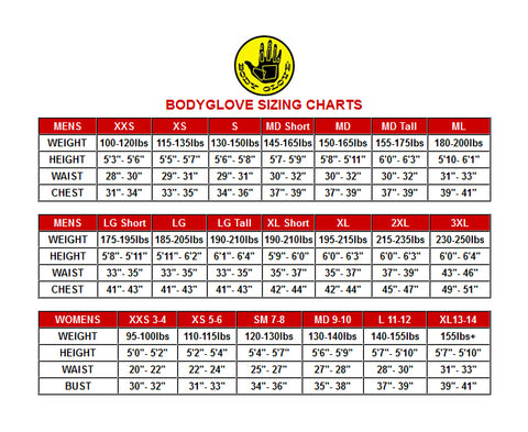 07bd206834996 Body Glove Size Chart – South Beach Swimsuits