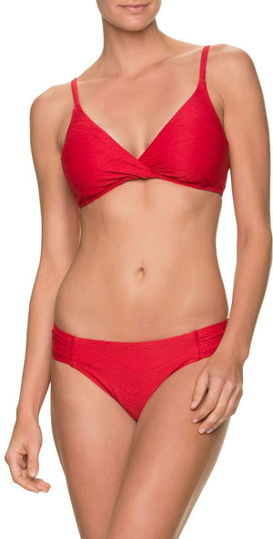 Helen Jon Tab Side Hipster Bikini Bottom in Top Sail Red: