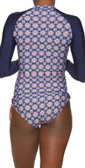 Helen Jon Marimar Surf Shirt in Compass Geo: