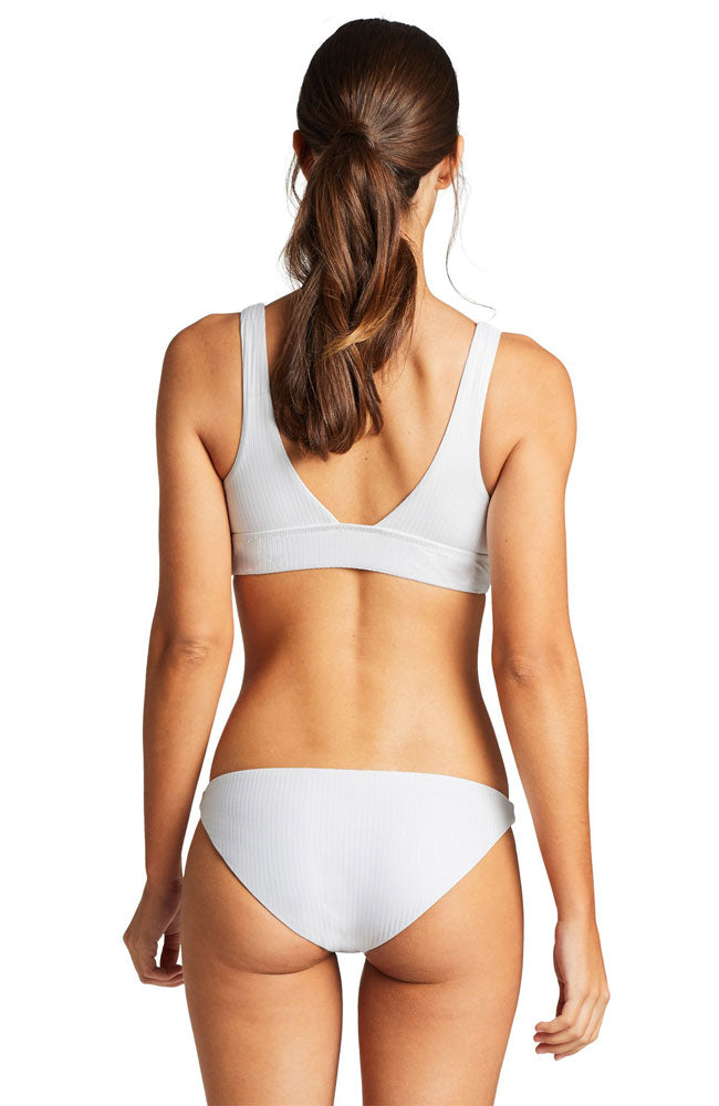 Vitamin A Sienna EcoRib Bikini Tank Top in White back