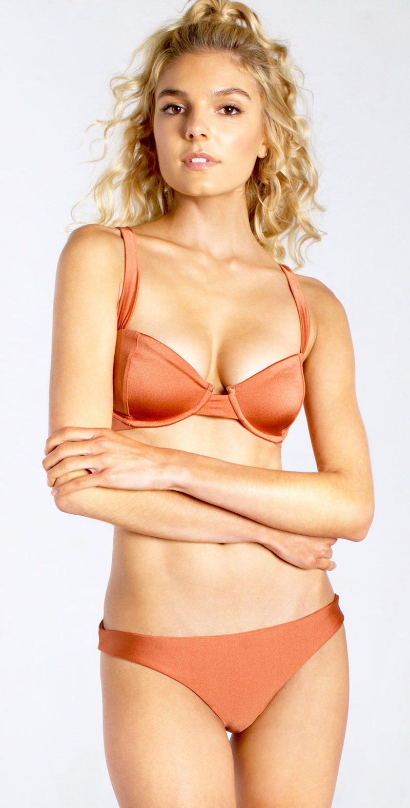 Westerly Romance Bralette in Copper front