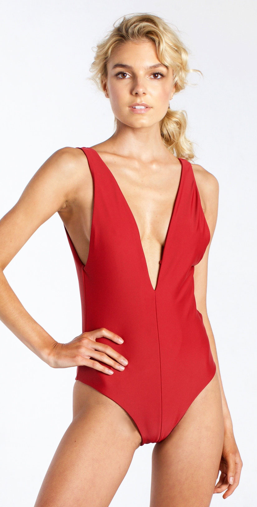 Westerly Plunge Full One Piece in Amore front