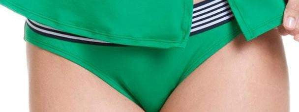 Anne Cole Retro Hipster Bikini Bottom in Green 14MB324-Kelly: