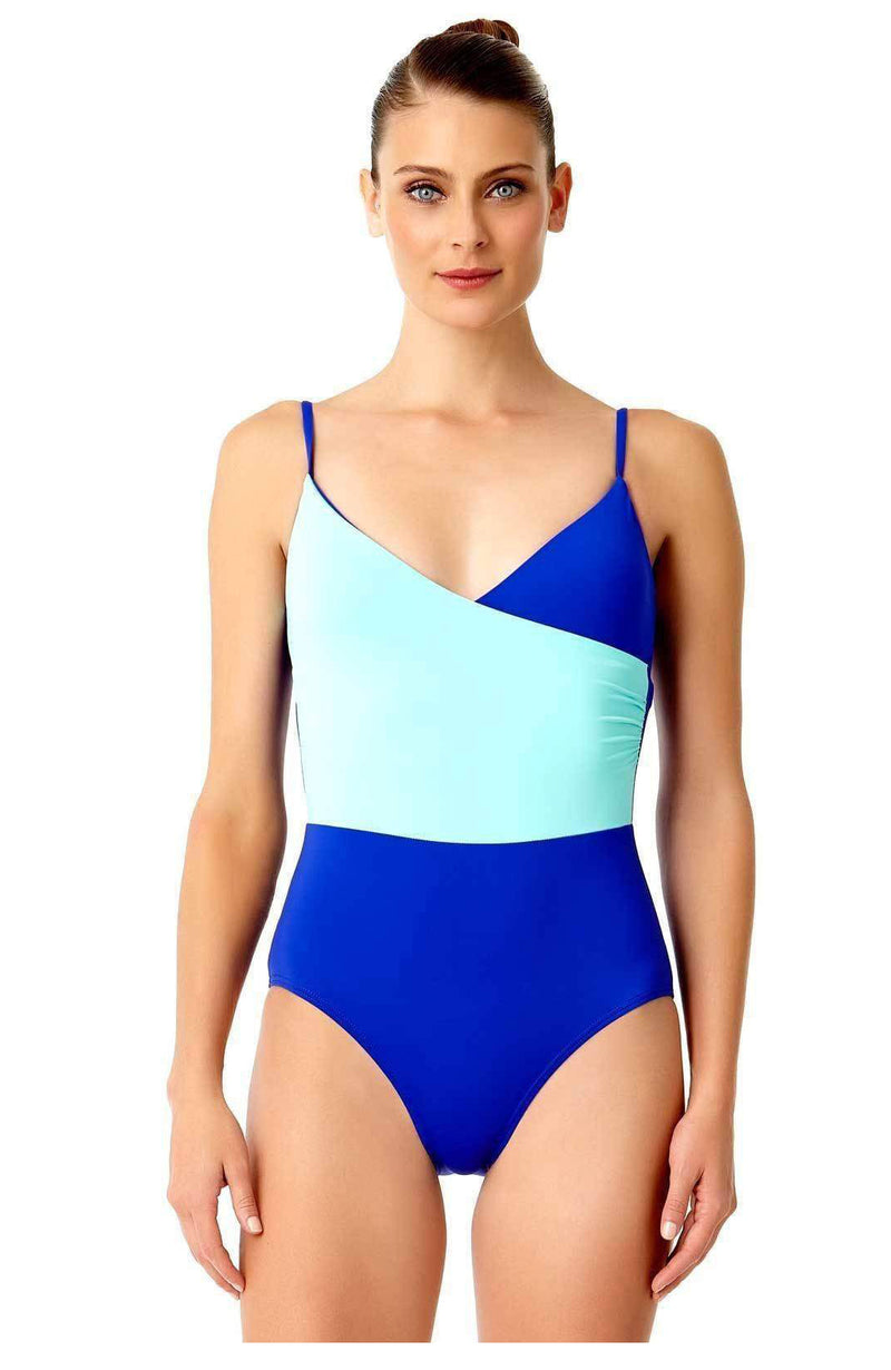 Anne Cole Live in Color Wrap Front One Piece Swimsuit