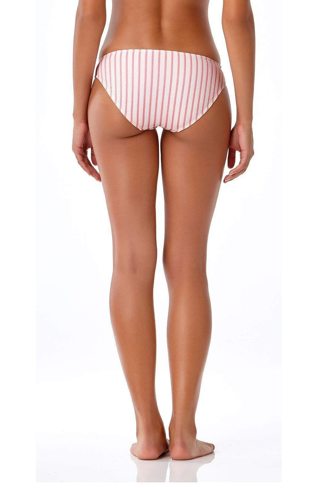 Anne Cole Studio Full Bikini Bottom In Pink Stripe