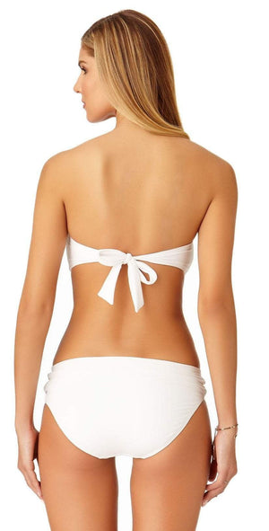 Anne Cole Live In Color Twist Bandeau Bikini Top 19MT10101 White: