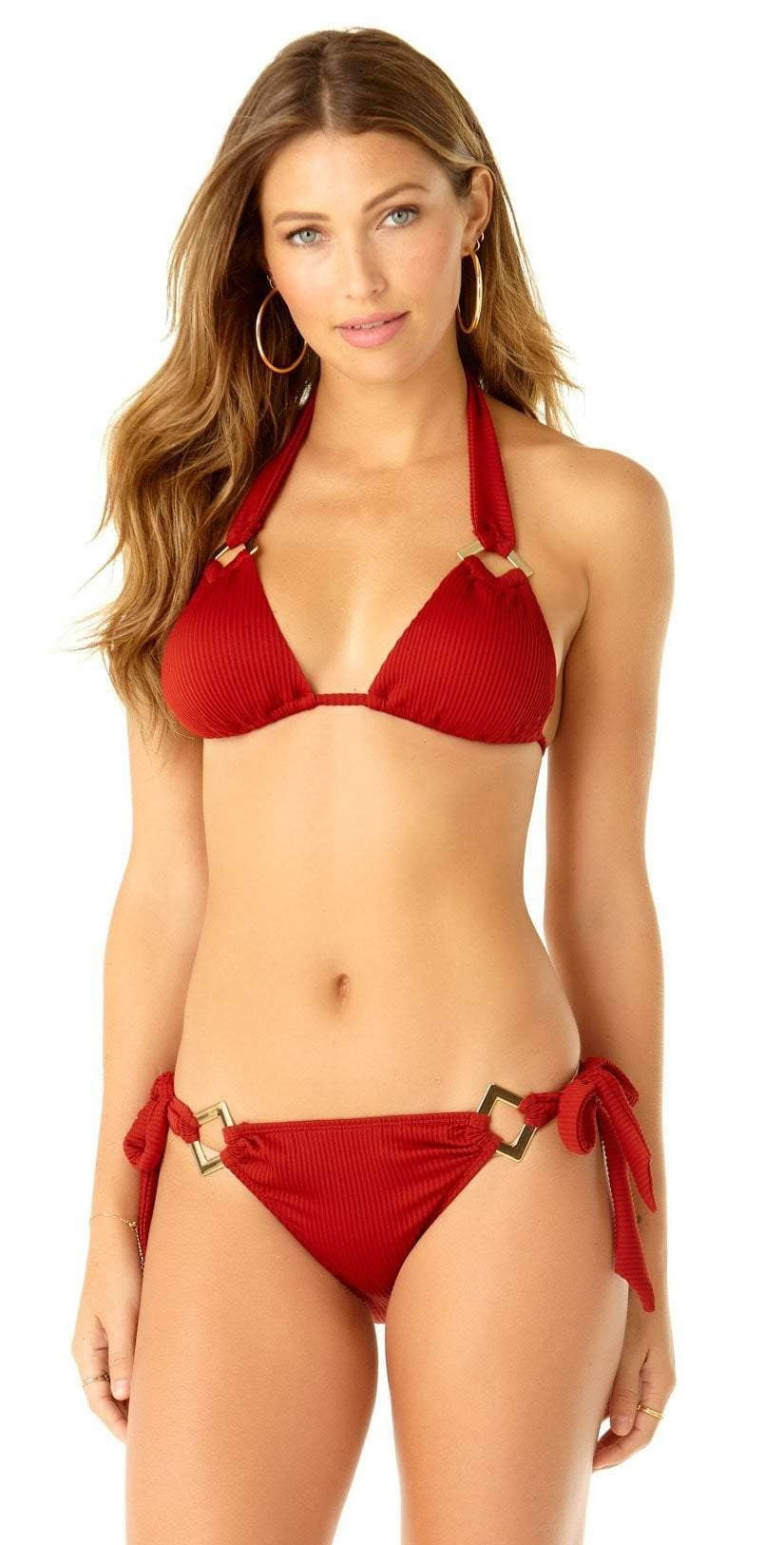 Anne Cole Studio Tie Side Bikini Bottom 19SB35402 RED: