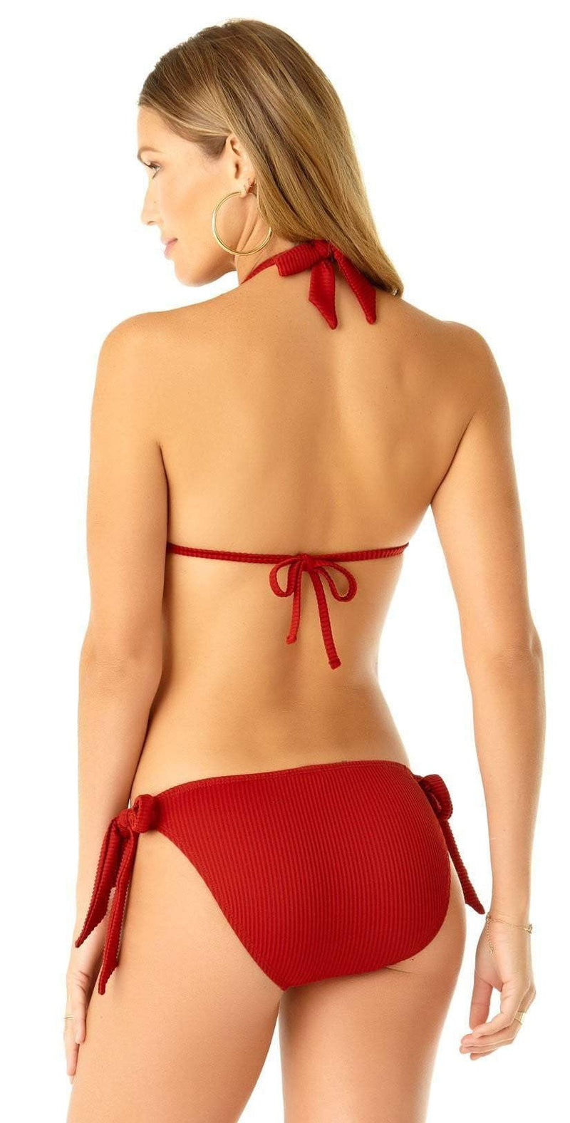 Anne Cole Studio Oh My Goddess Bandeau Bikini Top 19ST19302 RED: