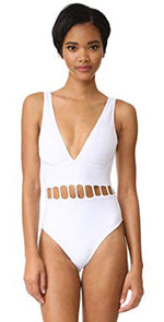 Peixoto The Jade One Piece Swimsuit in White 31702L-S18-WHT: