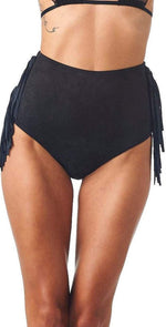 Montce Faux Suede High Rise Bottom in Black: