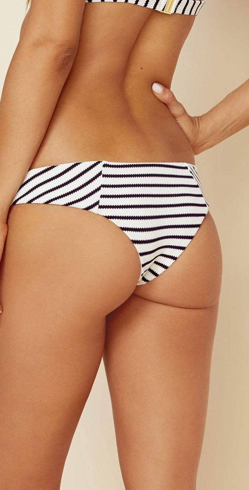 Blue Life Jet Set Skimpy Bottom in Jacquard Stripe 438-2456 STRP: