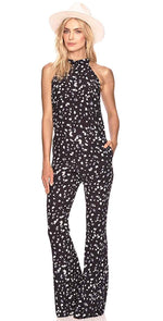 Beach Riot Chloe High Neck Jumpsuit  DFALIS-NVFL: