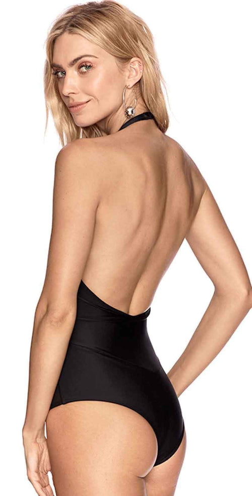 Beach Riot Marisa Black One Piece Swimsuit Back View