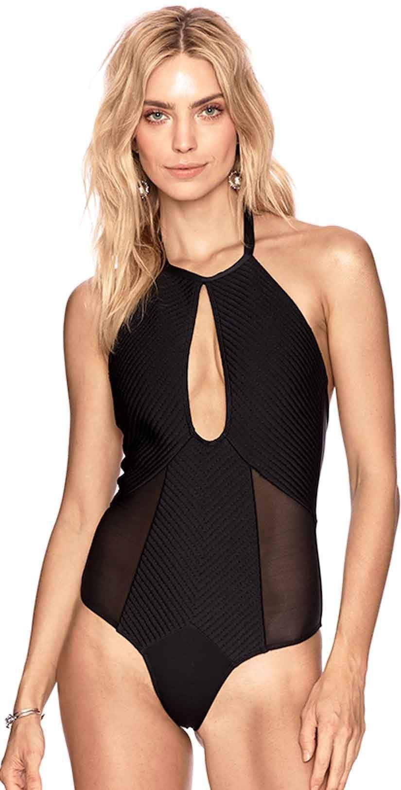 Beach Riot Marisa One Piece In Black DFALOP-BLK: