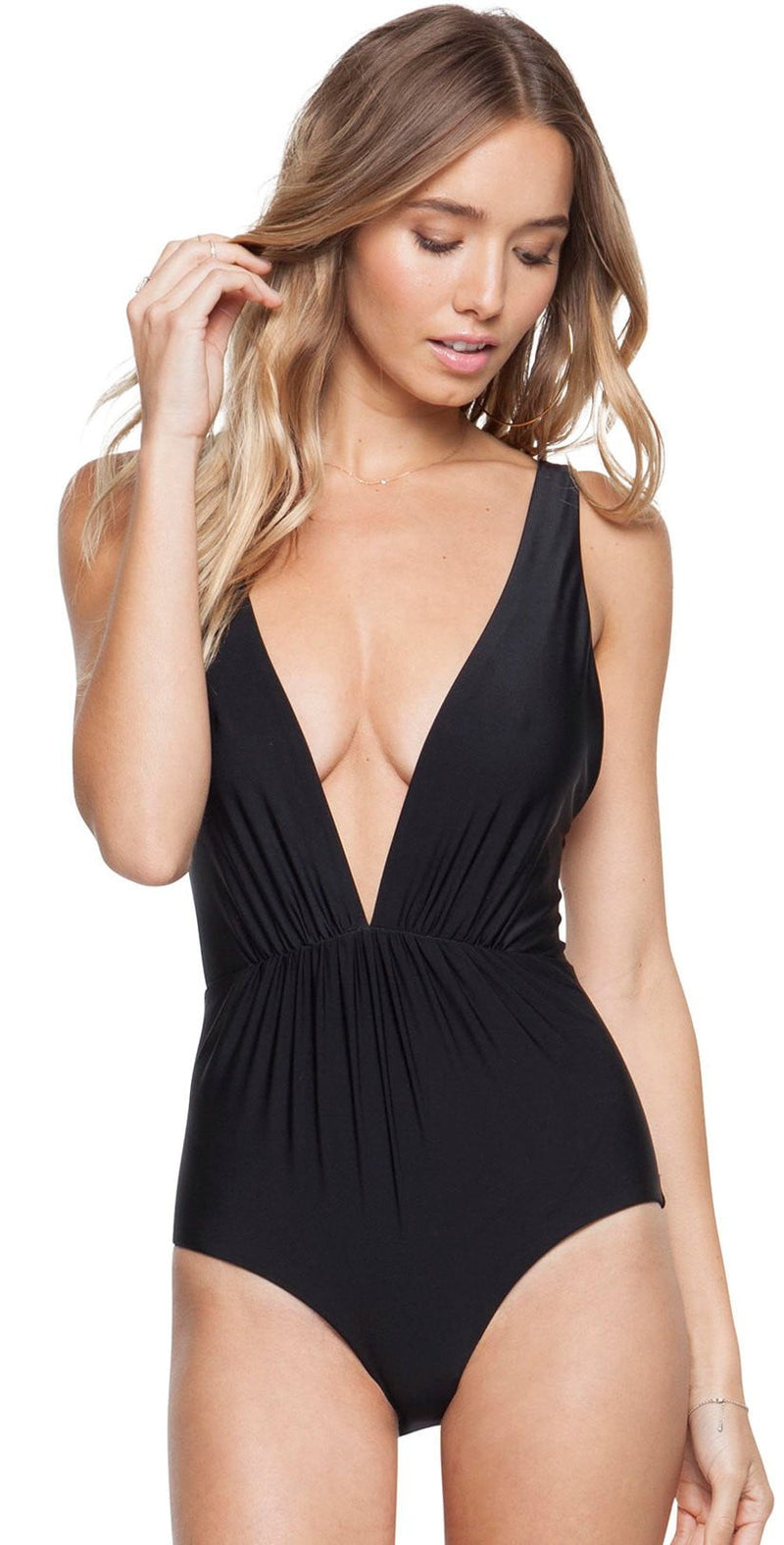 Tori Praver Andie One Piece In Black 1R18SOANSO-BKS: