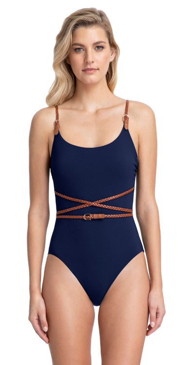 Gottex Scoop Neck Blue Marine One Piece