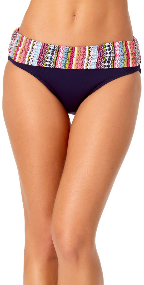 Anne Cole Fold-over Bikini Bottom in Navy 20MB30213-Navy